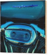 Harley Sportster 1200 Wood Print by David Patterson