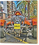 Harley Trike Wood Print