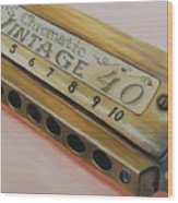 Harmonica Wood Print