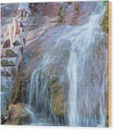 Harmony At The Falls Wood Print