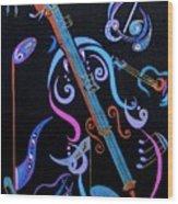 Harmony In Strings Wood Print by Bill Manson