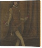 Harmony In Yellow And Gold, The Gold Girl Connie Gilchrist , James Mcneill Whistler Wood Print