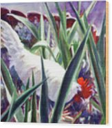 Harmony Rooster Wood Print