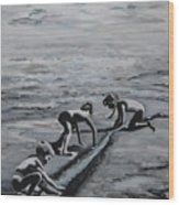 Harnessing the Ocean Wood Print