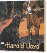 Harold Lloyd In Back To The Woods 1919 Wood Print