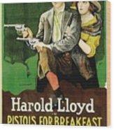Harold Lloyd In Pistols For Breakfast 1919 Wood Print