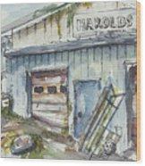 Harold's Welding Wood Print