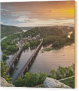 Harpers Ferry National Historical Park Maryland Heights Sunset Wood Print