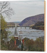 Harpers Ferry - Shenandoah Meets The Potomac Wood Print