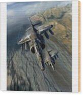 Harrier Element Wood Print