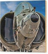 Harrier Ground Attack Jet Airplane Wood Print