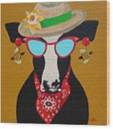 Harriet Honeybee Holstein Wood Print