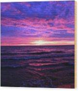 Harrington Beach Sunrise 3 Wood Print