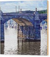 Harrisburg Pa - Market Street Bridge Wood Print
