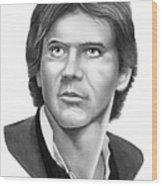 Harrison Ford - Hans Solo Wood Print