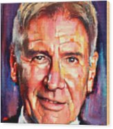 Harrison Ford Indiana Jones Portrait 2 Wood Print