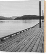 Harrison Lake Pier, Bc Wood Print