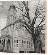 Harrisonburg, Rockingham County Courthouse, Virginia - Bw 1 Wood Print