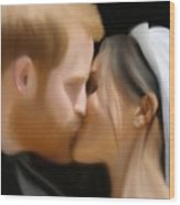 Harry And Meghan Wood Print