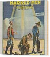 Harry Carey In Marked Men 1919 Wood Print