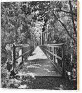 Harry Easterling Bridge Peak Sc Black And White Wood Print