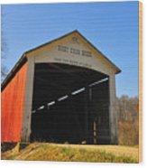 Harry Evans Covered Bridge Wood Print
