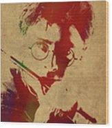 Harry Potter Watercolor Portrait Wood Print
