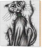 Harry The Cat Wood Print
