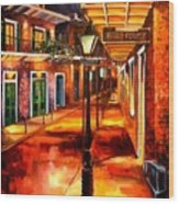 Harrys Corner New Orleans Wood Print by Diane Millsap