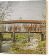 Harshaville Covered Bridge  Wood Print