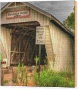 Harshman Covered Bridge Wood Print