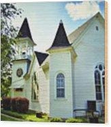 Hartsburg Baptist Church Wood Print
