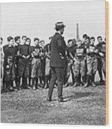Harvard Football Practice Wood Print