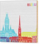 Harvard Ma Skyline Pop Wood Print