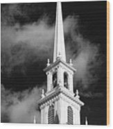 Harvard Memorial Church Steeple Wood Print