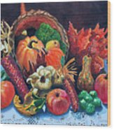Harvest Bounty Wood Print