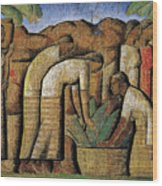 harvest, by Alfredo Ramos Martinez Wood Print