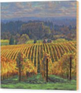 Harvest Gold Wood Print by Michael Orwick