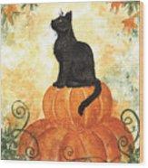 Harvest Kitty Wood Print