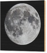 Harvest Moon At 99 Pct. Waxing Gibbous Wood Print
