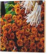 Harvest Mums Wood Print