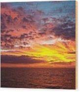 Harvest Sunrise In The Gulf  Wood Print