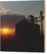 Harvest Sunset Wood Print