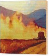 Harvest Time In Wyoming Wood Print