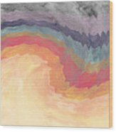 Harvest Wind- Abstract Art By Linda Woods Wood Print