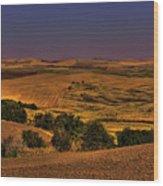 Harvested Fields Wood Print