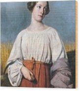 Harvester Holding Her Sickle Wood Print