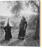 Harvesting Near Bethlehem Wood Print