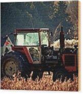 Harvesting The Fields  Wood Print