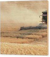 Harvesting Wheat 1336 Wood Print